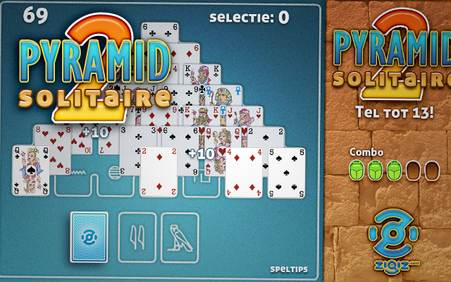 Pyramid Solitaire 2 - Add up to 13