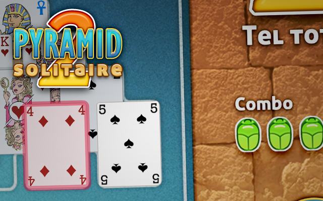 Pyramid Solitaire 2 - Maak combinaties