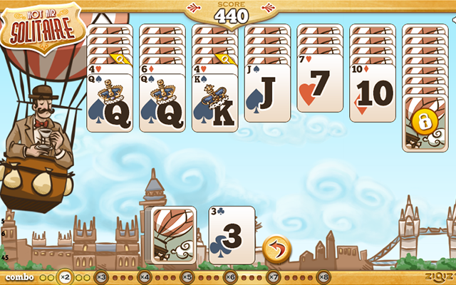 Hot Air Solitaire - Eine Variante von Golf-Solitaire