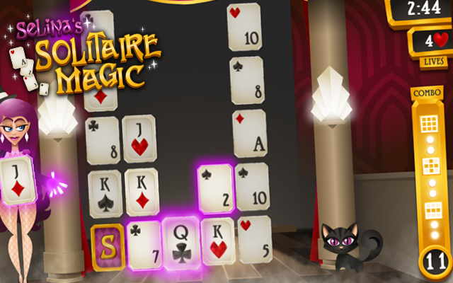 Solitaire Magic - Help Selina met toveren in dit kaartspel