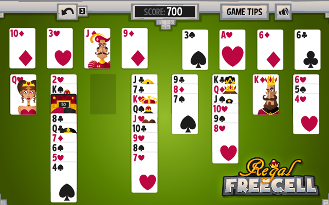 Regal Freecell - De beste freecell solitaire spel