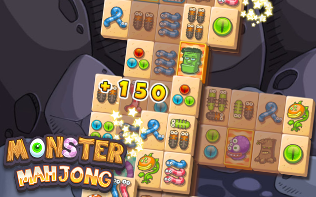 Monster Mahjong - Score points in this monsterously version of Mahjong Solitaire.