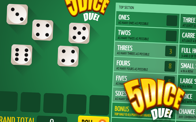 5Dice Duel - Combine the dice and be the best in this Yahtzee dice game