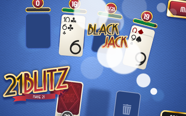 21 Blitz - Combine the cards and be the best in this black jack card game