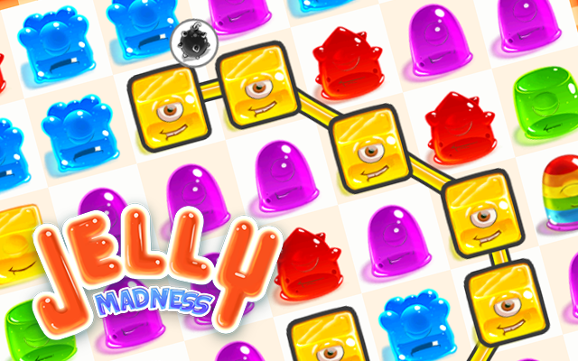 Jelly Madness - Create a line of the same color and clear the field